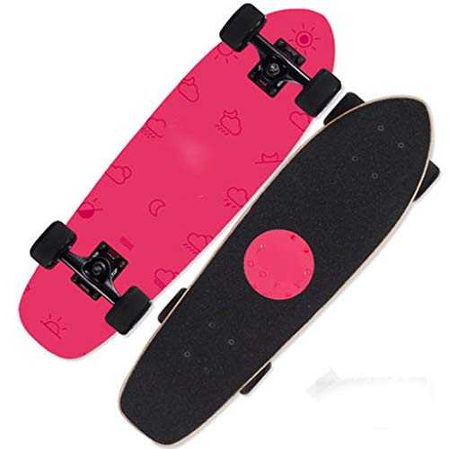 MSNDD Four-Wheeled Skateboard Beginners Adult Children Boys and Girls Youth Paddles Adult Professional 4 Double-Headed Scooters (Color : B) ()