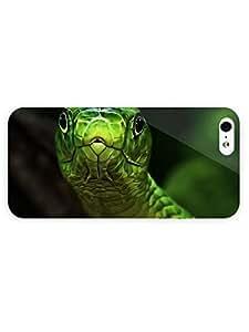 3d Full Wrap Case for iPhone 5/5s Animal Green Snake81 hjbrhga1544