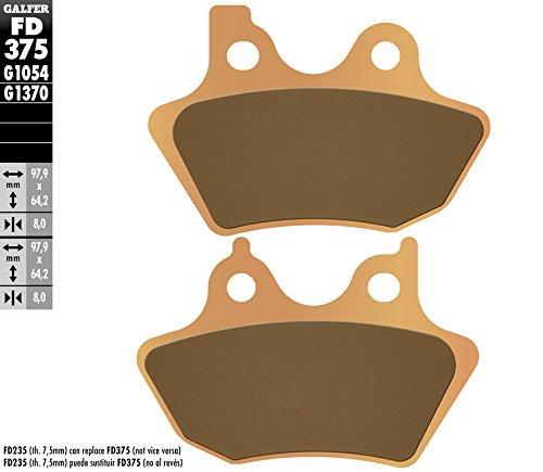 for Harley Davidson Motorcycles Galfer FD375G1370 Brake Pad
