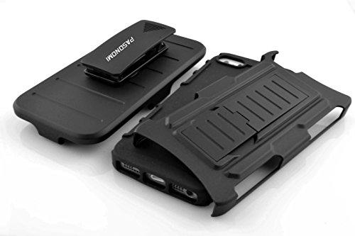 iPhone 5/5S Hülle, Pasonomi® Outdoor Hybrid Handy Schutz Hülle TPU Silikon Bumper Case Cover Tasche Etui Case mit Kickständer Für Apple iPhone 5/5S (iPhone 5/5S)