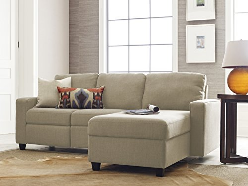 Serta Palisades Reclining Sectional with Right Storage Chaise – Oatmeal