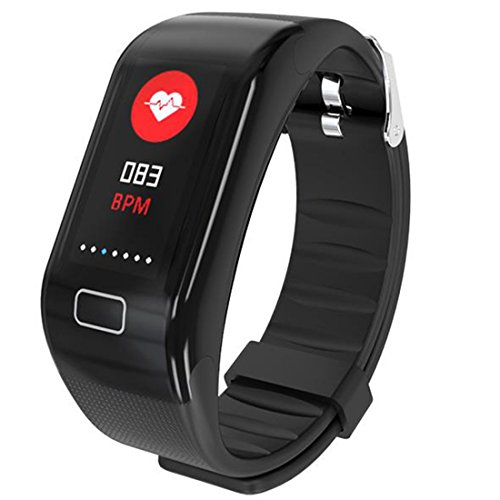 Kimitech Fitness Tracker Heart Rate Monitor Step Counter Color Screen...