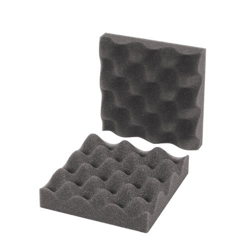 BOX USA BFCSC662 Convoluted Foam Sets, 6'' x 6'' x 2'', Charcoal (Pack of 64 Sets) by BOX USA