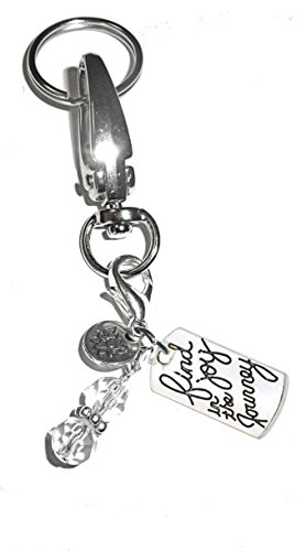- Message Charm Key Chain Ring, Women's Purse or Necklace Charm, Comes in a Gift Box! (Find Joy in the journey)