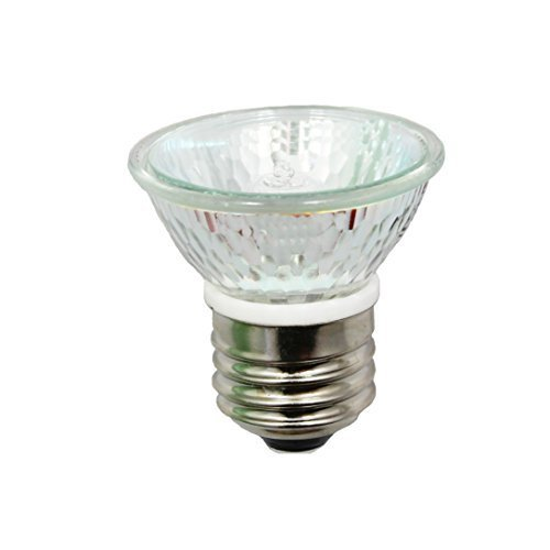 - Anyray A1875Y HR16 120V 25W E27/E26 MR-16 25 Watt JDR C Halogen Bulb Lamp HR 16 with Lens (25 Watts)