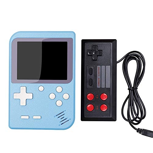 Retro Portable Mini Handheld Game Console 8-Bit 2.8 inch in Color LCD Screen Built-in 400 Games Kid Video Handheld Game Player on TV,Blue