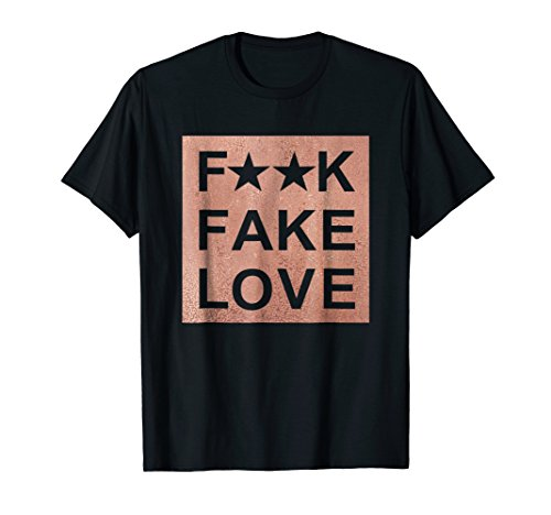 Fake Love Rose Gold T-Shirt Sneaker Heads Basketball shoes