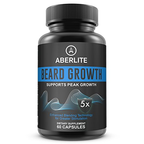 Facial Hair Growth for Men - With Natural And Essential Beard Vitamins For 5X Beard Growth | Fuller Beard And Fast Growth - Beard Growth Vitamins | Beard Thickener | Beard Grower | Beard Supplements