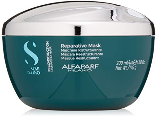 - Alfaparf Milano Semi Di Lino Reconstruction Reparative Mask for Damaged Hair, Sulfate Free - Safe on Color Treated Hair - SLS, Paraben and Paraffin Free - Professional Salon Quality