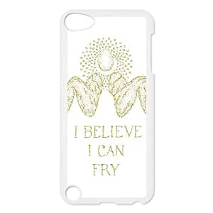 iPod Touch 5 Case White I BELIEVE I CAN FRY JNR2007809