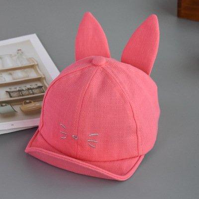 拍手オーバードローテナント男子の帽子&キャップ太陽の赤ちゃん帽子春と夏の男の子および女の子サンハット子供マンガのウサギ耳の帽子の赤ん坊を旅行しています。