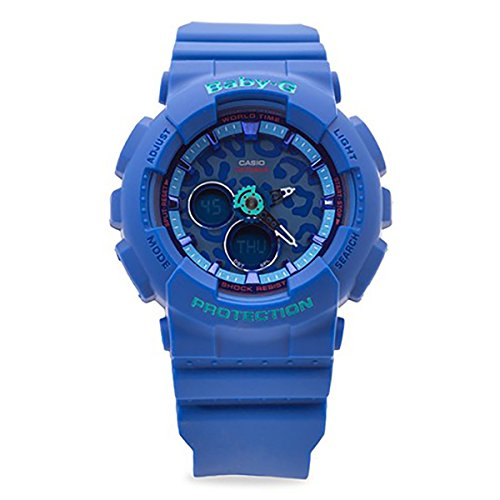 (Casio Baby-G Animal Print Graphic Dial Resin Quartz Ladies Watch)