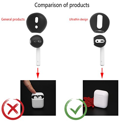 Redriver Soft Silicone Replacement Eartips Earbud Tips for Airpods Earphone two pairs (White)