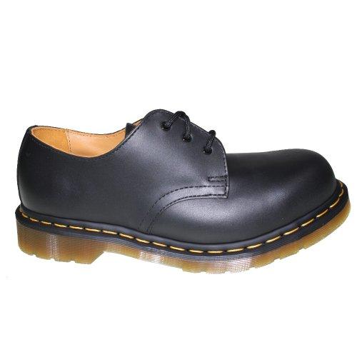 Mocasines unisex 5400 puntera hierro cuero black de de con Martens 1925 10111001 Dr Negro IxanE0wqA