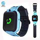 LTAIN Kids Smartwatch Waterproof Smart Watch for Kids with GPS Tracker SOS Camera Alarm Clock Security Zone Voice Chat Smartwatch for Kids with Phone Birthday Gift for Girls Boys Age 6-14(Blue)