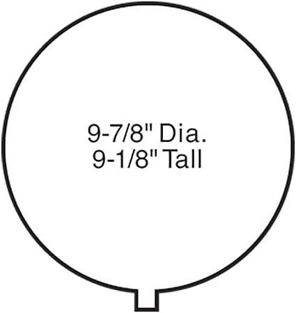 Cornerstone Series/® Plastic Kit Gas Storage Tank 9-7//8 24.6cm Diameter x 9-1//8 22.8 Tall Walthers HO Scale Empire Gas Works