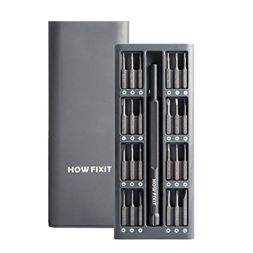 HowFixit PRO 24 bit Screwdriver Set for Repair Electronics iPhone, Laptop, PC, Game Console PS4, Xbox Controller, Tablet, Glasses etc