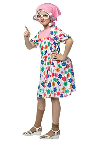 [Rasta Imposta 9066-710 7-10 Granny Costume] (Mario Tween Costumes)
