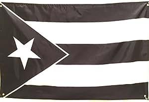 Amazon Com Puerto Rico Black Flag 34x22in Puerto Rico