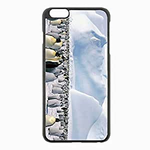 iPhone 6 Plus Black Hardshell Case 5.5inch - penguins flock snow mountain Desin Images Protector Back Cover