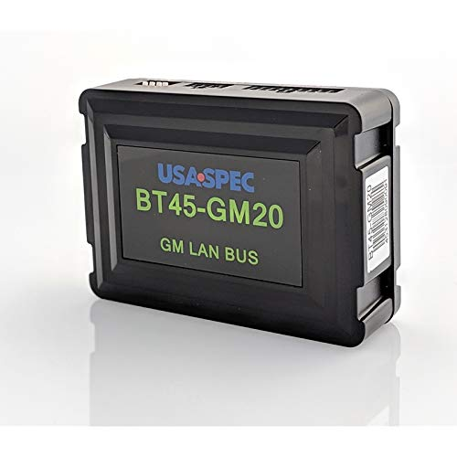 USA Spec BT45-GM20 Bluetooth Music & Phone Interface for GM LAN Bus Radios with XM (Satellite Radio) Receivers