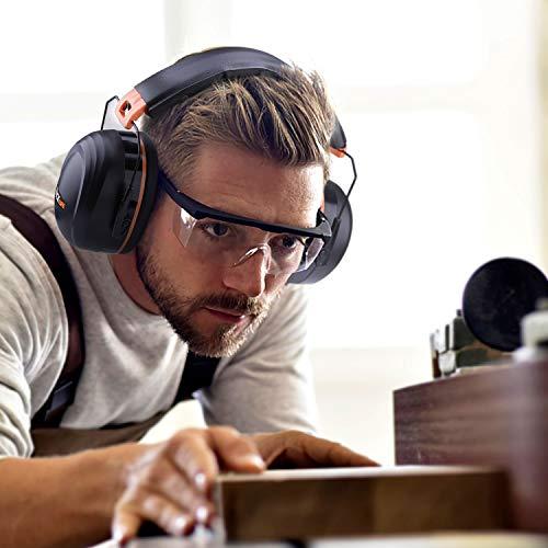 Tacklife Casque Anti-bruit Pliable Enfant Adulte, SNR 34dB/Protection Auditive/Certification CE/Confortable/Idéal pour… 5