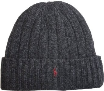 d03c8a3faec894 Image Unavailable. Image not available for. Colour: POLO Ralph Lauren Lambs  Wool Cuff Beanie Charcoal Grey Pony Skull Cap ...