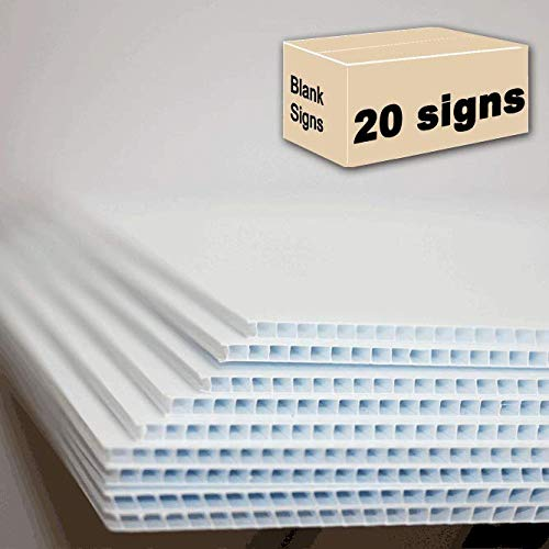 20 Blank Signs White 18