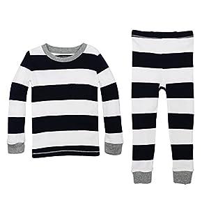 Burt's Bees Baby Unisex Baby Pajamas, 2-Piece Pj Set, 100% Organic Cotton (12 Mo-7 Yrs)