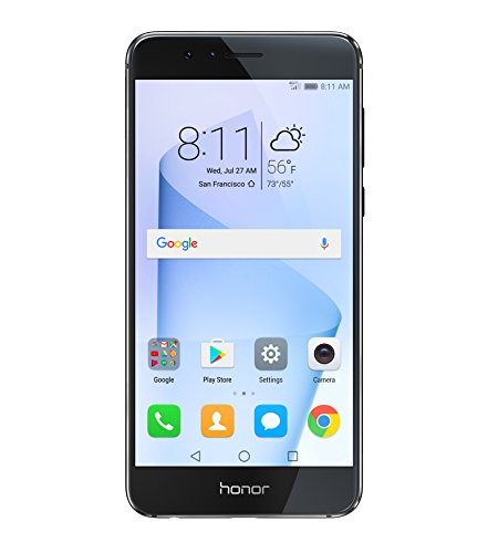 Huawei Honor 8 Unlocked Smartphone 32 GB Dual Camera - US Warranty (Midnight Black)