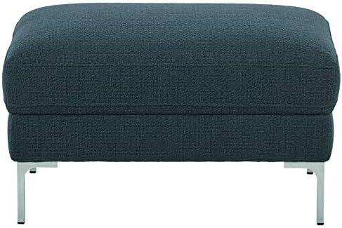 Amazon Brand Rivet Abel Modern Contemporary Ottoman, 30 W, Navy