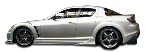 (Duraflex Replacement for 2004-2011 Mazda RX-8 Vader Side Skirts Rocker Panels - 2 Piece)