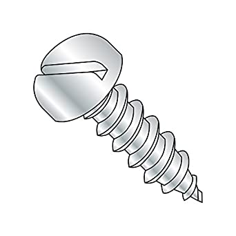 1-1//2 Length Steel Sheet Metal Screw 1//4-14 Thread Size Pan Head Pack of 50 Type AB Slotted Drive Zinc Plated