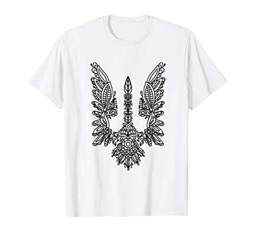 - Ukrainian Flag T-shirt Ukrainian Coat of Arms Emblem Shirt