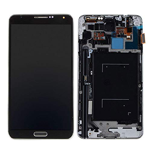 MMRM Samsung Galaxy Note 3 N900A N900T 4G Smartphone LCD Display Screen Digitizer Frame Replacement Parts Black
