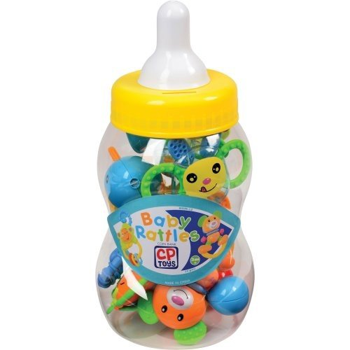 CP Toys Baby Rattle Teether Toys in Giant Coin Bank Baby Tooth Bank