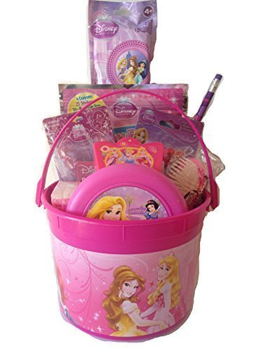 Disney Princess Bucket of Fun Set Perfect for Easter Basket, Birthday Gift, or any other Special Occassion (Easter Gift Baskets For Little Girls)