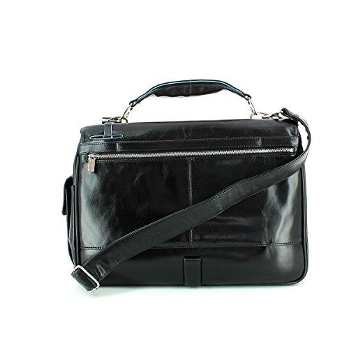 Piquadro Blue Square Briefcase with laptop compartment CA1095B2-N NERO