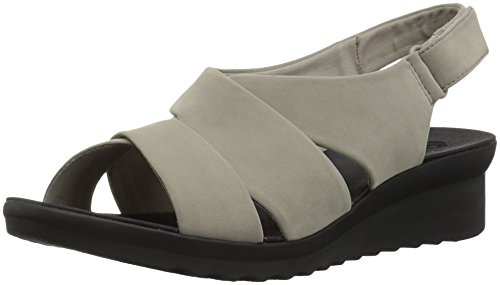 CLARKS Womens Caddell Petal Platform, Sand Synthetic Nubuck, 6.5 Wide US
