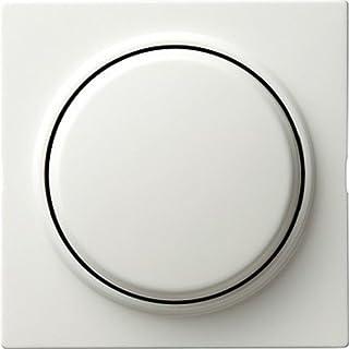 Gira 013040 Interrupteur Va-et-Vient S-Color avec Manette/Recouvrement, Blanc Brillant