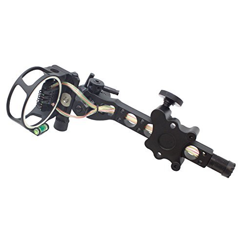 7 pins .019 Bow Sight with Micro Adjust Detachable Bracket LED Sight Light...
