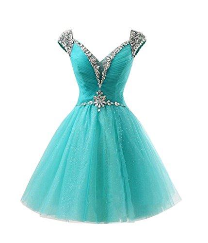 Damen Kleid Blau A Linie Drasawee 7FdY7
