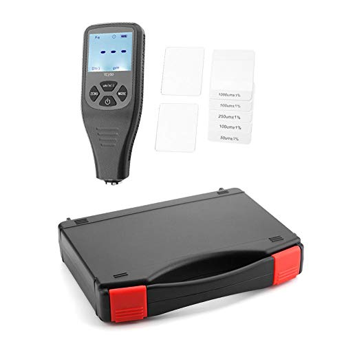 Measuring Tool Calibration Thickness Tester Paint Meter High Contrast Coating Thickness Gauge for Automotive Coating with 0 to 1300um Measuring Range