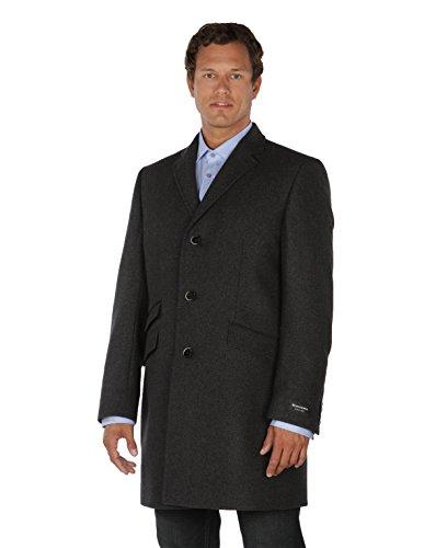 BENVENUTO Herren Mantel Cruise 25178-1283 schwarz Schurwolle und Kaschmir Größen: 50 52 54 56