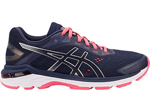 ASICS Women's GT-2000 7 Running Shoes, 8.5N, Peacoat/Silver