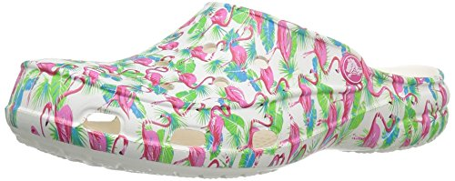 crocs Women's Freesail Summer Fun Clog Mule, Flamingo, 11 M US by Crocs