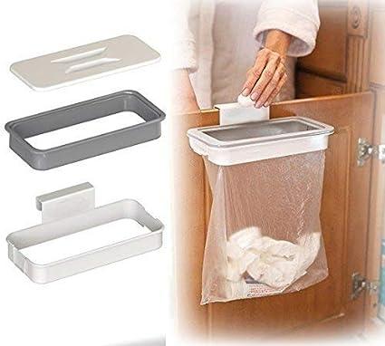 Pveath Attach A Trash Hanging Trash Bag Holder Cupboard Door Back Trash Rack Storage Waste Bin Kitchen Cabinet Garbage Tools