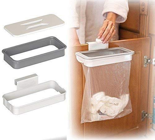 Pveath Befestigung einer Trash–zum Aufhängen Trash kann Mülleimer, Schrank Tür Rückseite Trash Rack Storage Garbage Bag Holder Aufhängen Küche Schrank Küche Werkzeuge