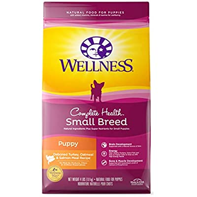 Wellness Complete Health Natural Dry Small Breed Dog Food Small Breed Puppy Turkey, Salmon & Oatmeal