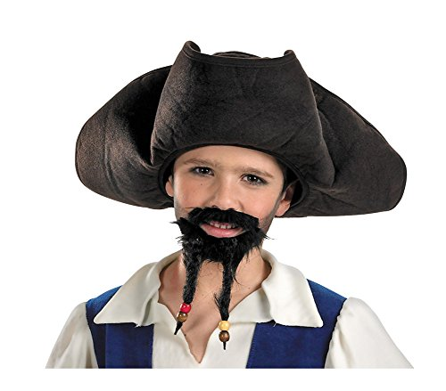Costume-Hat Child Pirate Hat With Moustache And Goatee Halloween (Pirates Hat With Moustache And Goatee)